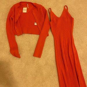 Free people two piece midi dress